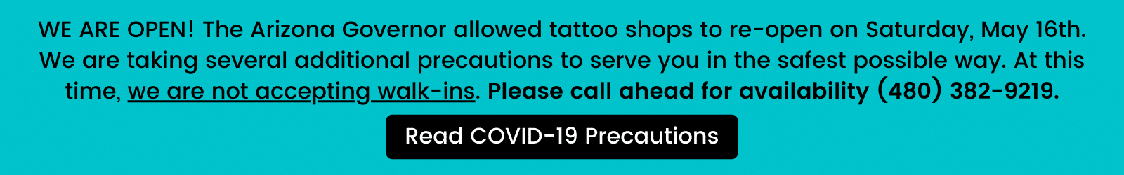 Read our COVID-19 precautions